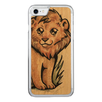 Cute Animal:  Lion Carved iPhone 8/7 Case