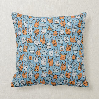 Cute Animal Monsters Pillow
