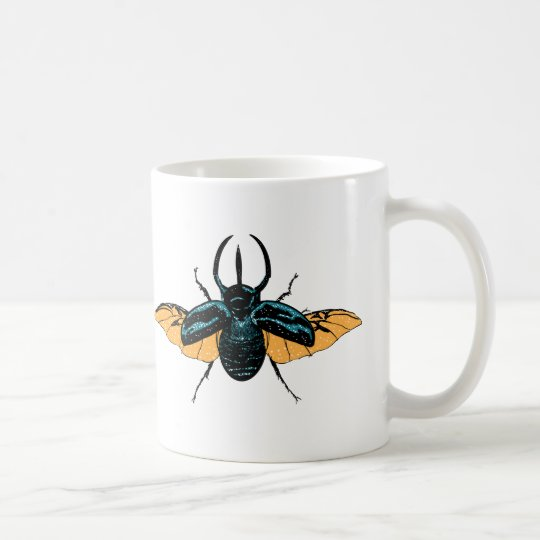 Cute Animal Mug Coffee Cup Beetle Insect Bug