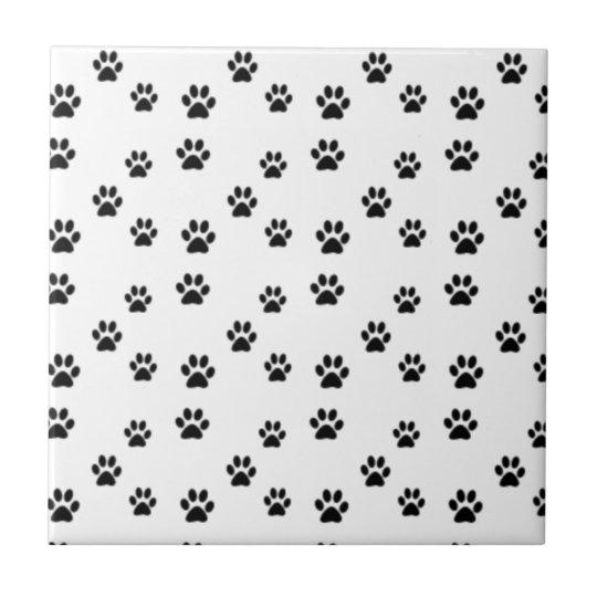 Cute animal paw prints design small square tile
