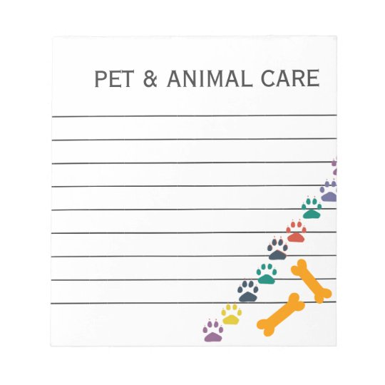 Cute Animal Pet Care Business Office Notepad
