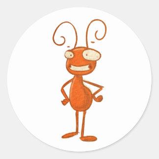 cute animals - ant classic round sticker