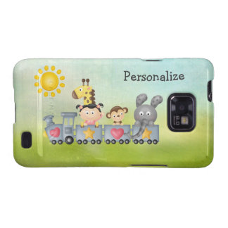 Cute Animals & Girl on Train Galaxy S2 Covers