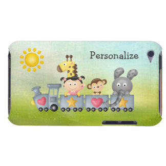 Cute Animals & Girl on Train iPod Touch Covers
