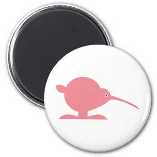 Cute animals in the Zoo 5: Cute little kiwi 6 Cm Round Magnet