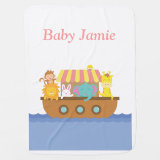 Cute Animals, Noah's Ark, for babies Baby Blanket