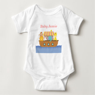 Cute Animals, Noah's Ark, for babies Baby Bodysuit