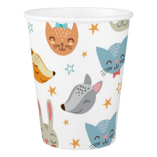Cute Animals Paper Cups