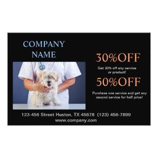cute animals pet service Veterinarian 14 Cm X 21.5 Cm Flyer
