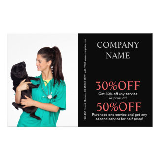 cute animals pet service veterinary personalized flyer