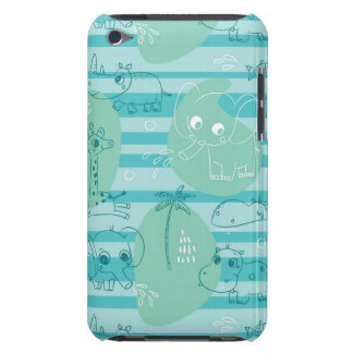 Cute animals playing with water 1 iPod touch case