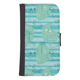 Cute animals playing with water 1 samsung s4 wallet case