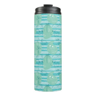 Cute animals playing with water 1 thermal tumbler