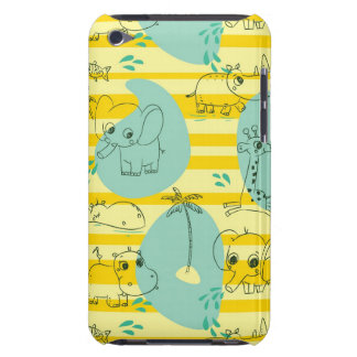 Cute animals playing with water 2 iPod touch case