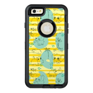 Cute animals playing with water 2 OtterBox defender iPhone case