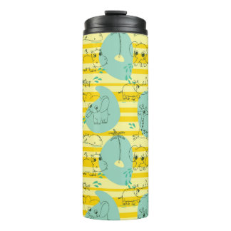 Cute animals playing with water 2 thermal tumbler