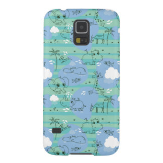 Cute animals playing with water 3 galaxy s5 cover