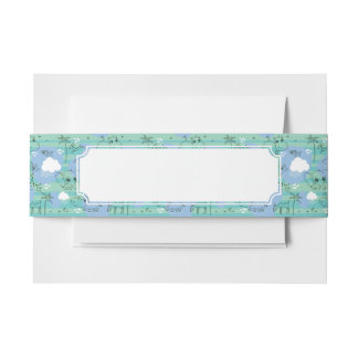 Cute animals playing with water 3 invitation belly band