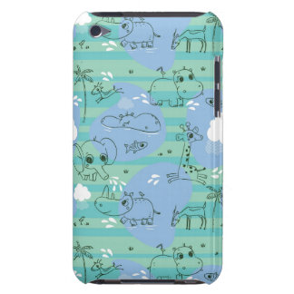 Cute animals playing with water 3 iPod touch covers