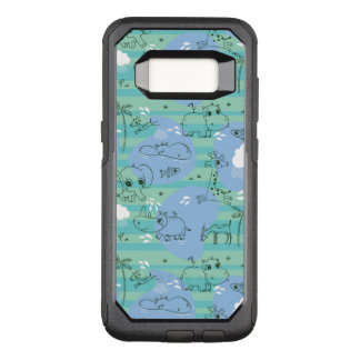 Cute animals playing with water 3 OtterBox commuter samsung galaxy s8 case