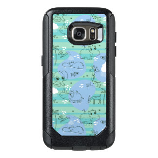 Cute animals playing with water 3 OtterBox samsung galaxy s7 case