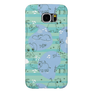 Cute animals playing with water 3 samsung galaxy s6 cases