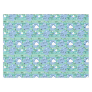 Cute animals playing with water 3 tablecloth
