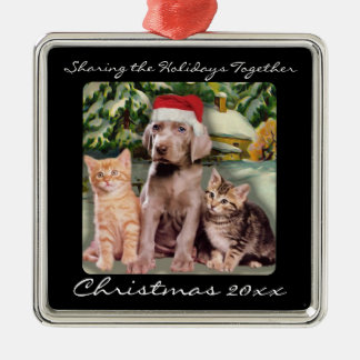 Cute Animals Puppy & Kittens Pet Personalized Christmas Ornament