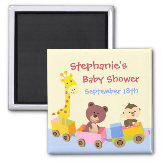 Cute Animals Toy Train Save the Day Magnet