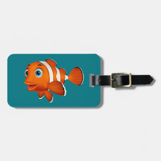 Cute Animated Clown Fish Tag For Bags
