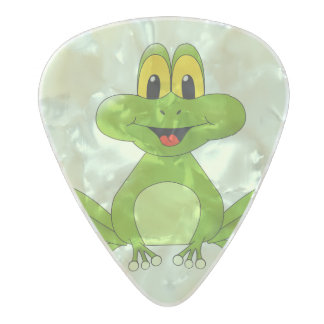 Cute Animated Frog Pearl Celluloid Guitar Pick