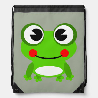 Cute animated frog rucksack