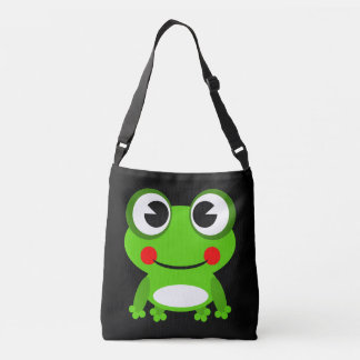 Cute animated frog tote bag