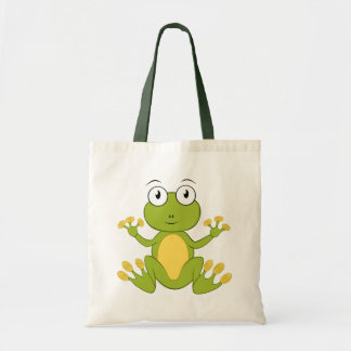 Cute animated Frog Tote Bags