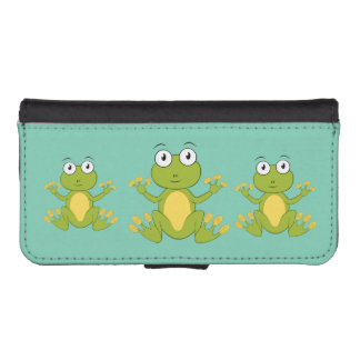 cute animated Frogs iPhone SE/5/5s Wallet Case