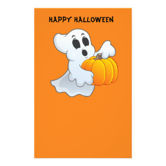 Cute animated Ghost with Pumpkin 14 Cm X 21.5 Cm Flyer