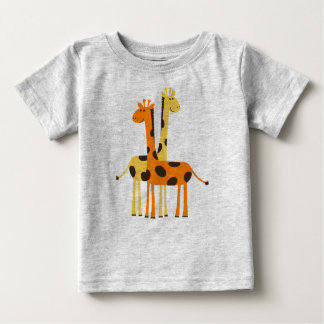 Cute Animated Giraffes Baby T-Shirt