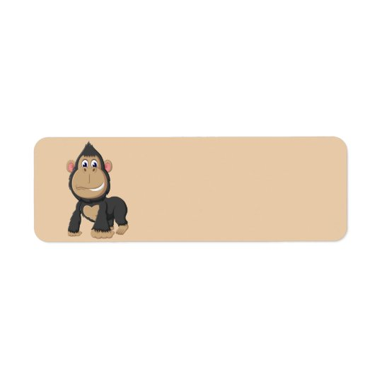 Cute Animated Gorilla Return Address Label