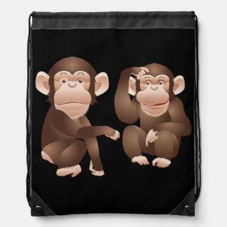 Cute animated Monkeys Backpacks