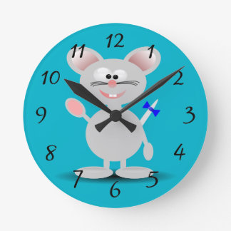 Cute animated mouse clock