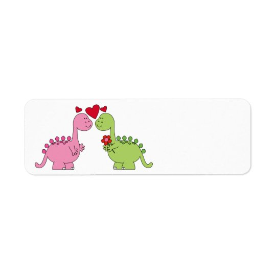 Cute animated Valentine's Day Dinosaurs