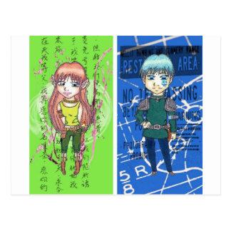 Cute Anime Art Postcard