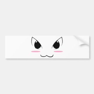 Cute Anime Face #1 Bumper Sticker