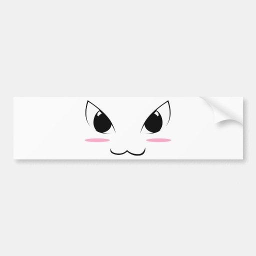 Cute Anime Face #1 Bumper Sticker