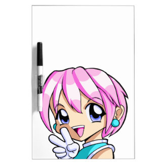 Cute Anime Girl Dry Erase Board
