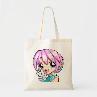 Cute Anime Girl Tote Bag