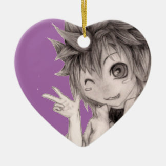 Cute Anime Guy, Original Drawing Christmas Ornament