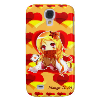 Cute Anime hearts Samsung Galaxy 4 Case Galaxy S4 Case