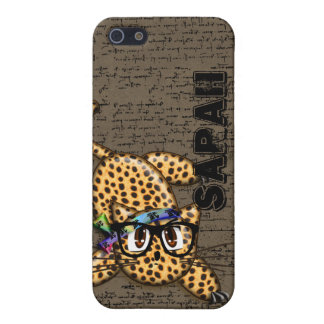 Cute Anime Leopard with glasses iPhone 5s Cover iPhone 5/5S Case
