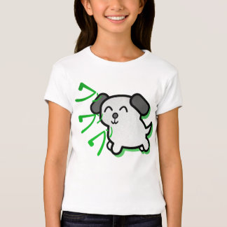 cute anime style dog kids t-shirt - green